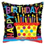 "BIRTHDAY CAKE BALLOON 18"" 19573-18"